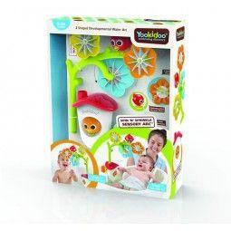 Detalle del packaging del movil de baño de sensaciones Yookidoo.