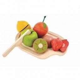 Surtido de frutas Plan Toys al completo.