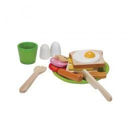 Menú de desayuno de Plan Toys.